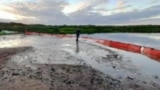 More than 40 tons of aviation fuel spilled into a lake near the Arctic settlement of Tukhard in Russia's Krasnoyarsk Territory on July 12. Norilsk Nickel said the spill happened when a pipeline depressurized for about 15 minutes while pumping aviation fuel.