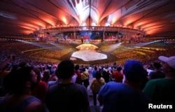 На открытии Олимпиады в Рио, 2016 год