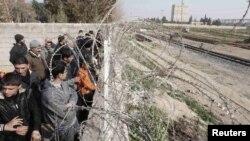 Границата меѓу Турција и Сирија.