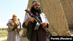 Taliban militants in Nangarhar Province in June 2018