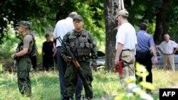 Пророссийские сепаратисты в Донецке. 7 июля 2015 года.