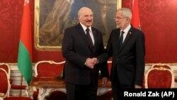 Президент Білорусі Олександр Лукашенко на зустрічі з президентом Австрії Александером ван дер Белленом, Відень, 12 листопада 2019 року