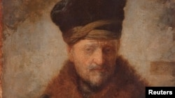 "A detail from ""Portrait of Rembrandt's Father"""