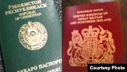 Ўзбек ва Буюк Британия паспорти