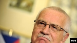 Czech President Vaclav Klaus made no promises after the Irish vote result was clear.