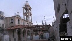Оштетена црква во Сирија.