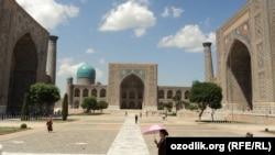 Архитектурный ансамбль Регистан в Самарканде.