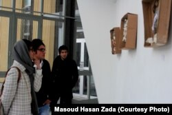 Посетители выставки Масуда Хасан Зады в Кабуле.