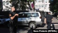 """Policija ispred suda u Podgorici gdje se sudi u slučaju """"Državni udar"""""""
