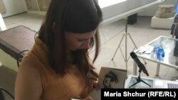 Українська письменниця Таня Малярчук на презентації чеського перекладу своєї книжки у Празі