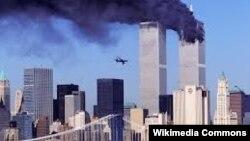 Дүниежүзілік сауда орталығы ғимараттарына жасалған теракт. Нью-Йорк, 11 қыркүйек 2001 жыл.