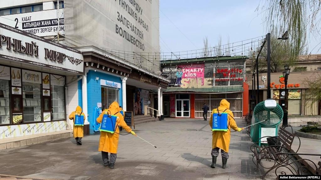 Бишкек. Дезинфекция иштери жүрүүдө.