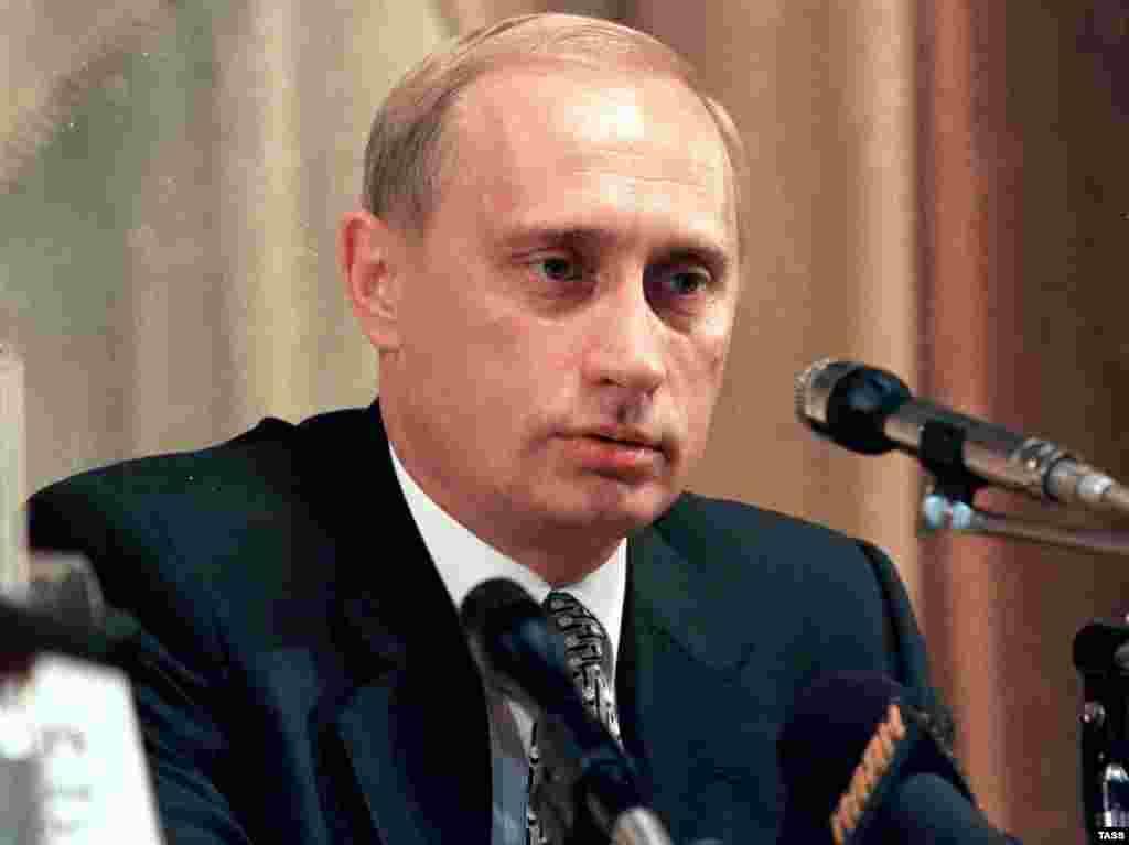 Владимир Путин назначен главой правительства России. Август 1999 года.