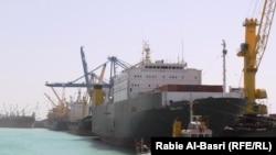 ميناء أم قصر في البصرة