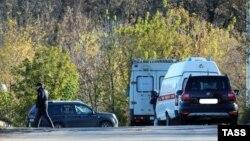 Нижний Новгородтағы полицияның екі күдіктіні атып өлтірген орын. Ресей, 23 қазан 2016 жыл.