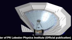 Космическая обсерватория «Миллиметрон» («Спектр-М»), визуализация.