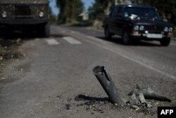 Дорога под Иловайском. Август 2014 года