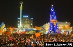 Сторонники Виктора Ющенко на Площади независимости в Киеве, 26 декабря 2004 года