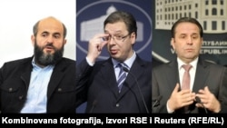 Muamer Zukorlić, Aleksandar Vučić i Rasim Ljajić