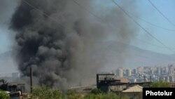 Հրդեհը անվադողերի գործարանում, Երևան, 6-ը օգոստոսի, 2013թ․