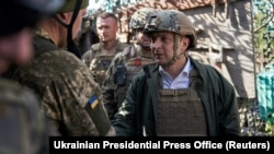 Президент України Володимир Зеленський на Донбасі, 14 жовтня 2019 року