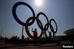 نشان المپیک در پارک المپیک در ریو
