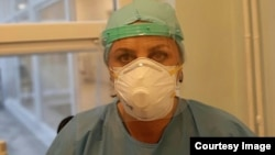 Fetije Hyseni, infermiere në Klinikën Infektive