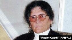 The presidential candidate for the Tajik opposition, Oinihol Bobonazarova (file photo)