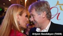 Дмитрий Песков (п) и Татьяна Навка