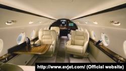Інтер'єр літака Gulfstream G-200