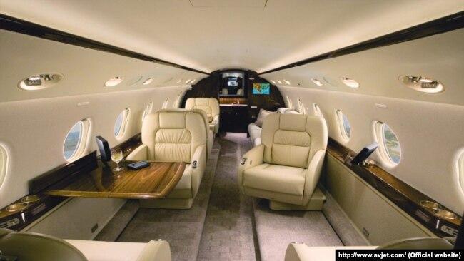 Салон літака Gulfstream G-200