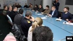 Состанок на Кризниот штаб поради снежното невреме.