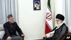 دیدار حامد کرزی، رئیس جمهور افغانستان، با آیتالله خامنهای در تهران