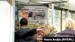 Prodaja štampe, Beograd, ilustracija