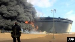 İŞİD-in Liviyada neft saxlama çəninə hücumu