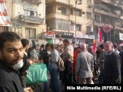 متظاهرون وسط القاهرة