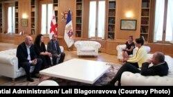 Лейла Мустафаева на встрече с президентом Грузии