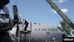 The Manas air base is a key supply point for operations in Afghanistan