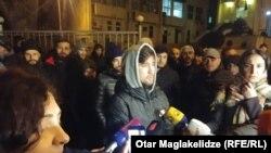 У Клуба борцов Тбилиси прошла акция в поддержку Гегешидзе
