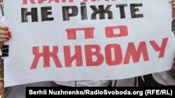Акція протесту проти укрупнення районів під Верховною Радою. Київ, 14 липня 2020 року
