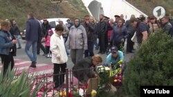 Acțiune de comemorate/protest la locul accidentului