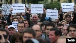 Петарбухарчу тIайна Кадыров Ахьмадан цIе тилларна дуьхьалбевллачийн митинг,2016