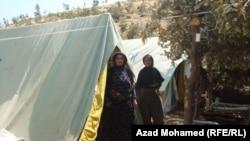 في مخيم للنازحين من هربا من القصف الايراني لمناطق حدودية