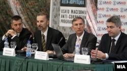 Промоција на Извештајот за проценка на корупцијата во Македонија.