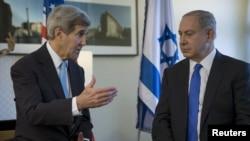 Американскиот државен секретар Џон Кери и израелскиот премиер Бенјамин Нетанјаху