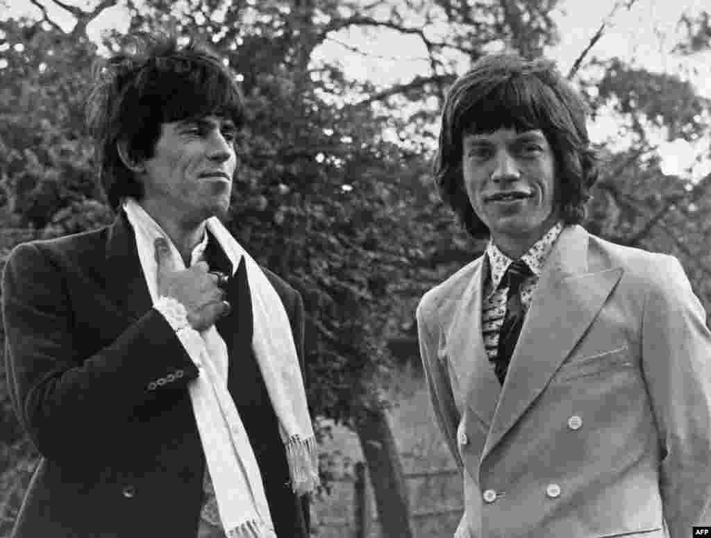 Jagger and Richards in London in 1967