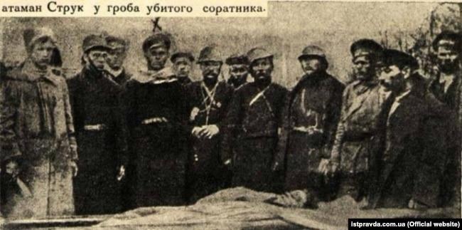 Реальний Ілько Струк, який згадується у повісті Гайдара, був командувачем 1-ї Повстанчої армії УНР