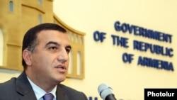Armenia - Minister of Labor and Social Affairs Artem Asatrian.