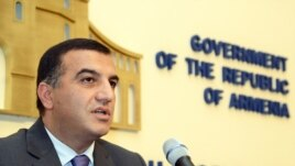 Armenia - Minister of Labor and Social Affairs Artem Asatrian.