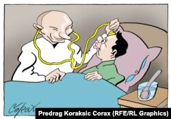 Caricatură de Predrag Koraksic Corax